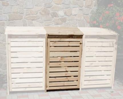 Erweiterungsbox für Mülltonnenbox Vario III