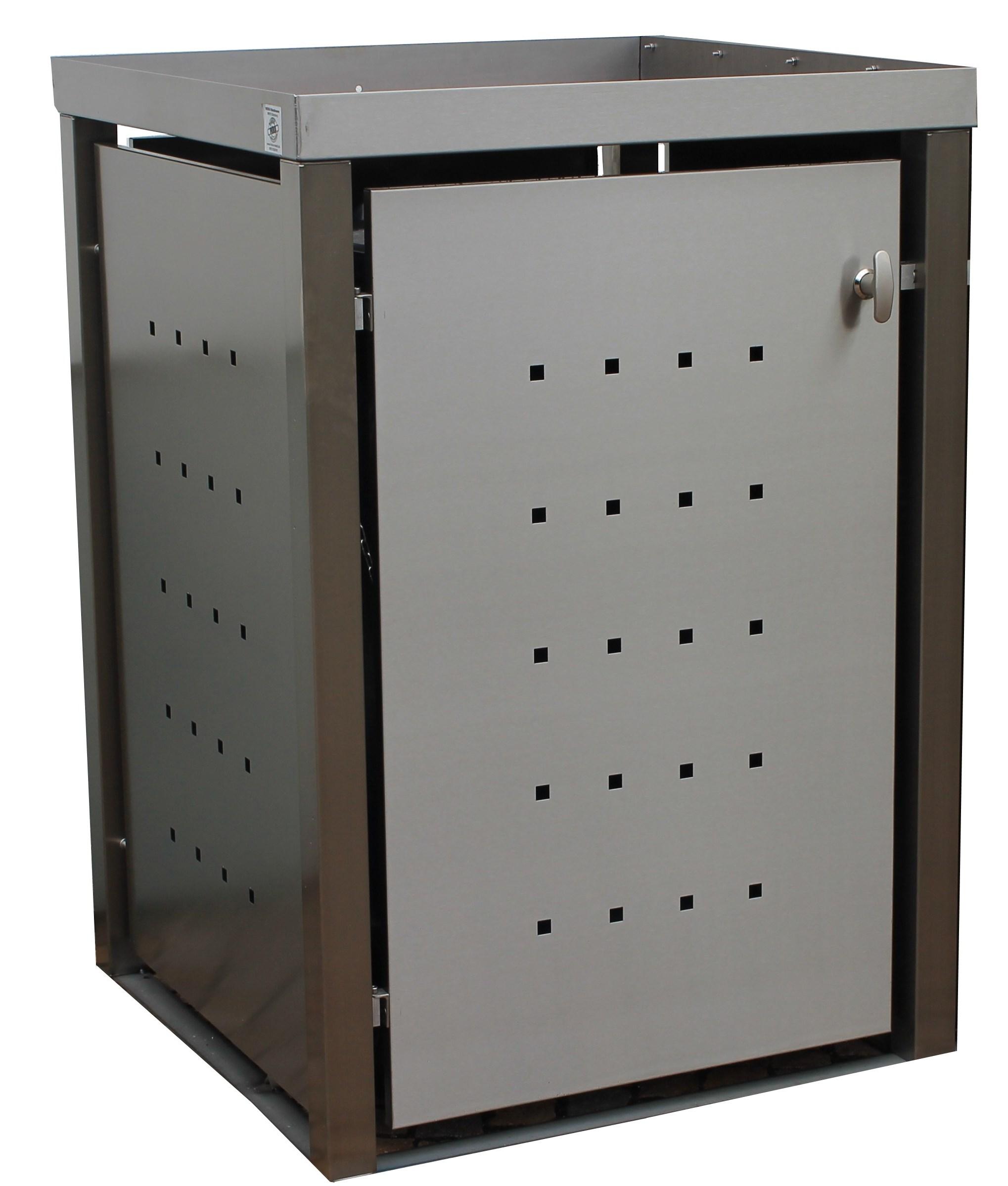 m lltonnenbox edelstahl vierkantpfosten 1x 120 240 liter. Black Bedroom Furniture Sets. Home Design Ideas