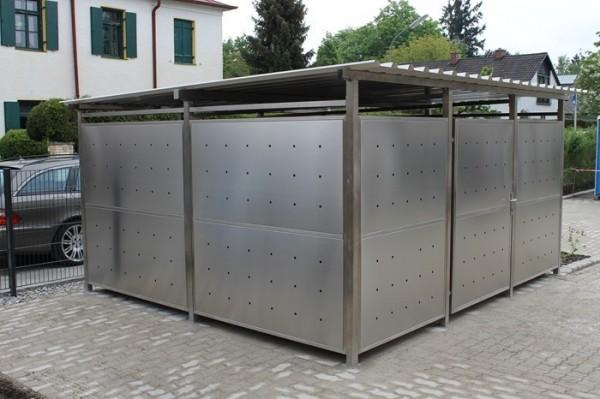 Edelstahl Mülltonnenhaus 400x354 cm