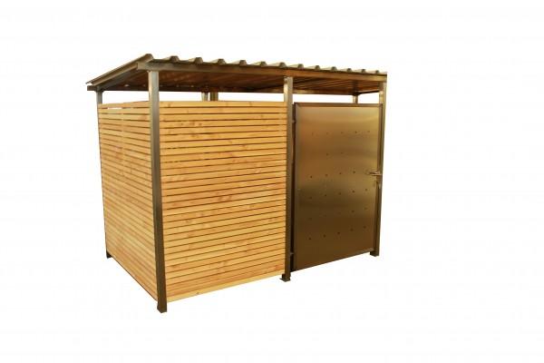 Mülltonnenhaus mit Holzverkleidung 270 x 180