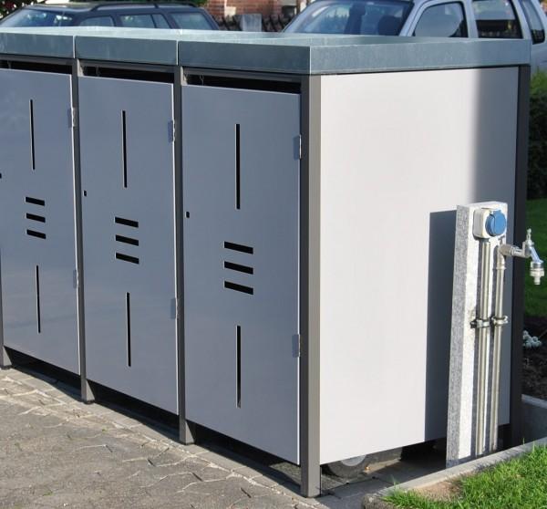 Müllbox Linea 3x 120 Liter Metall
