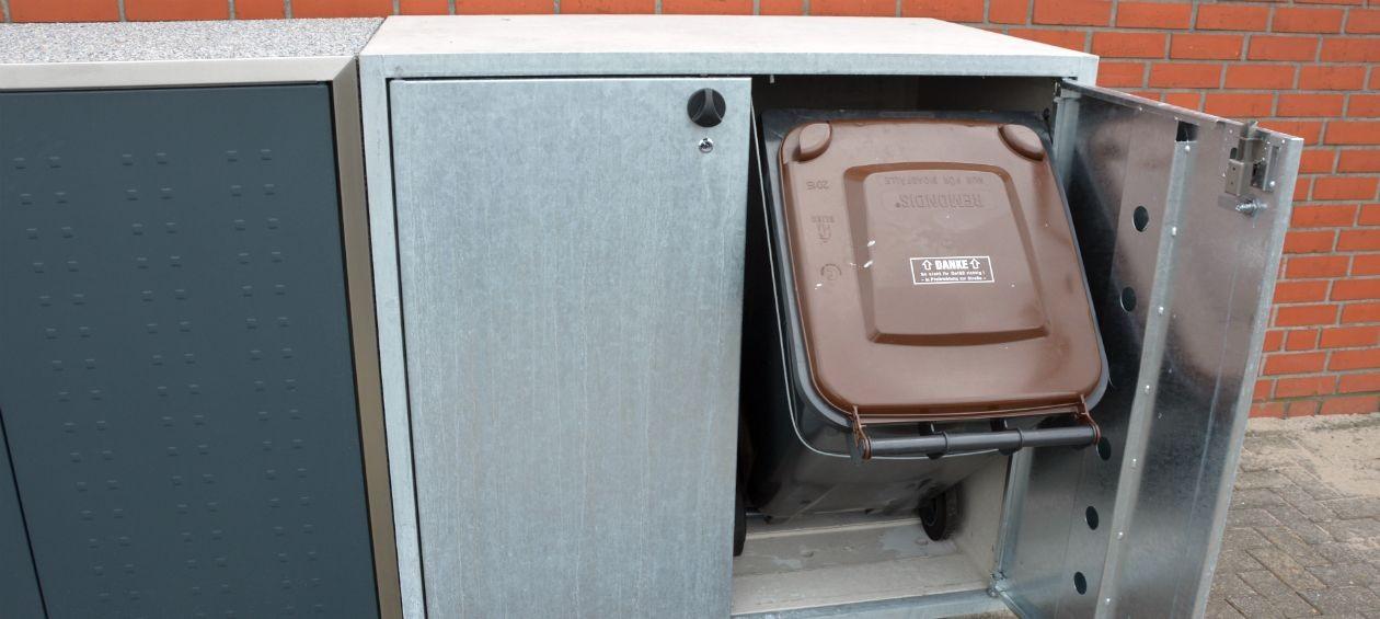 Mülltonnen vor Diebstahl schützen