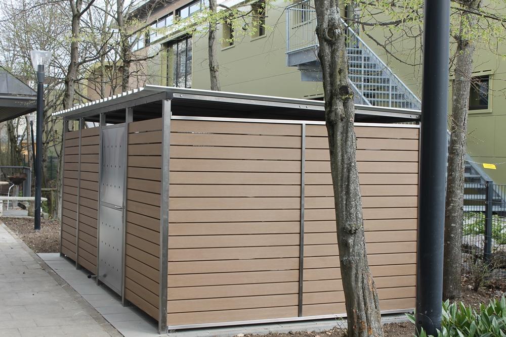 m lltonnenhaus mit kunststoffverkleidung l531 cm x t265 cm. Black Bedroom Furniture Sets. Home Design Ideas