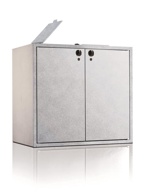 m lltonnenbox doppelschrank mit deckel f r 2 x 240 liter. Black Bedroom Furniture Sets. Home Design Ideas
