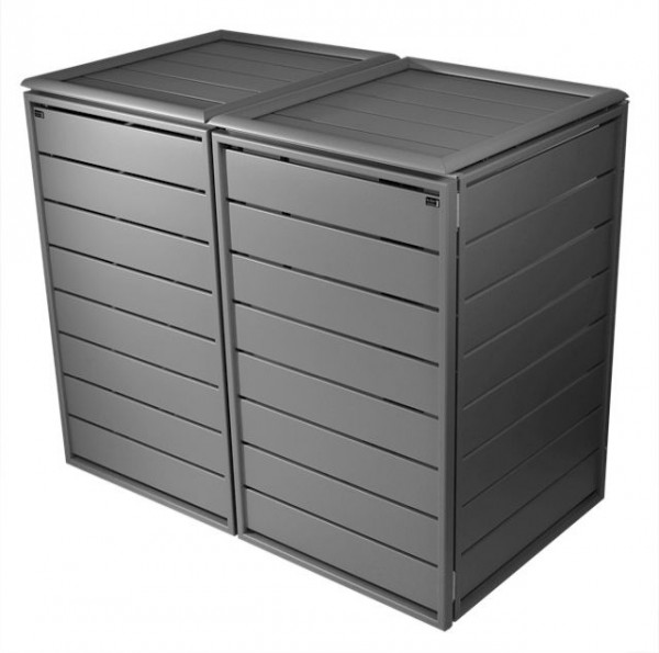 m lltonnenbox aluminium style 2x 120 240 liter m lltonnenboxen aus aluminium. Black Bedroom Furniture Sets. Home Design Ideas