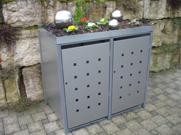 Müllbox Quadra 2x 120 Liter