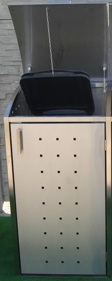 m lltonnenbox aus edelstahl 1x 120 240 liter m lltonnenboxen aus edelstahl m lltonnenboxen. Black Bedroom Furniture Sets. Home Design Ideas