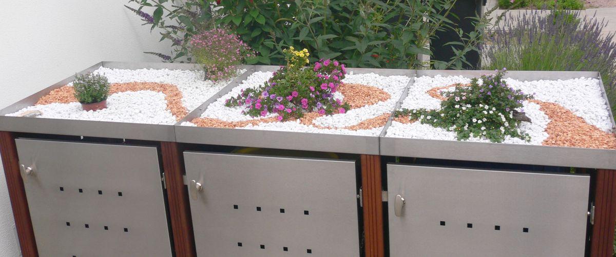 Pflanzdächer für Mülltonnenboxen - RESORTI