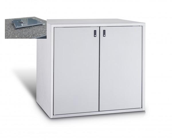 Mülltonnenbox Einstiegsmodell 242 2x 120 / 240 Liter mit Einwurföffnung