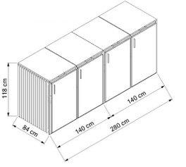 Holz-Edelstahl-4x240