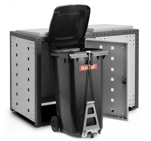 Mülltonnenbox Elite 2er mit Easy Rollout System