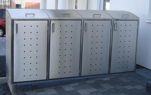 m lltonnenbox aus edelstahl 4x 120 240 liter m lltonnenboxen aus edelstahl m lltonnenboxen. Black Bedroom Furniture Sets. Home Design Ideas