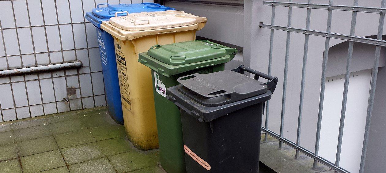 Verschiedene Mülltonnen - Mülltonne anmelden - RESORTI Mülltonnenboxen