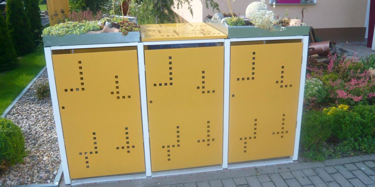Gelbe Mülltonnenbox - RESORTI