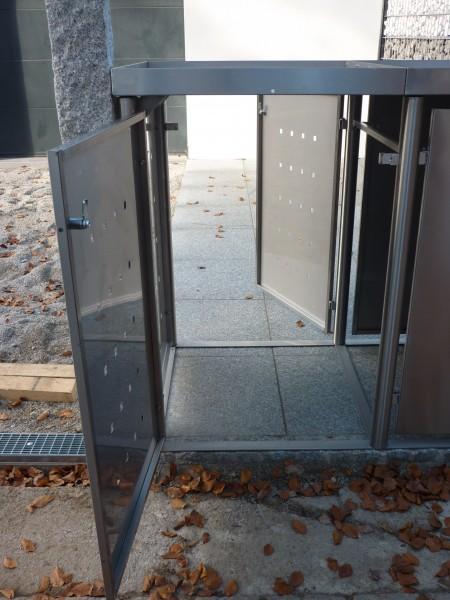 Durchgangstür für Mülltonnenboxen