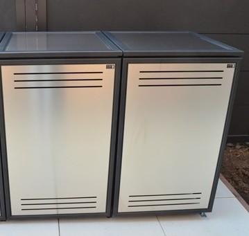 Mülltonnenbox Edelstahl Flavor 2x 120 / 240 Liter
