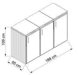 Holz-Edelstahl-3x120