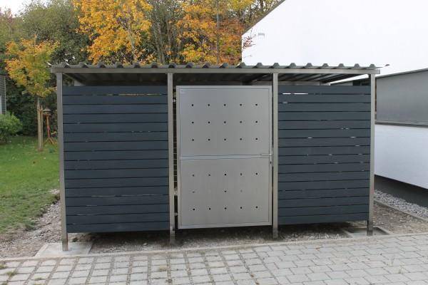 Mülltonnenhaus mit Kunststoffverkleidung 400x250 cm