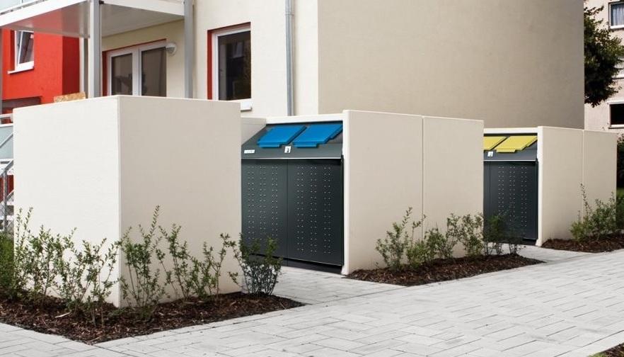 Müllcontainerboxen Aus Beton Resorti Mülltonnenboxende