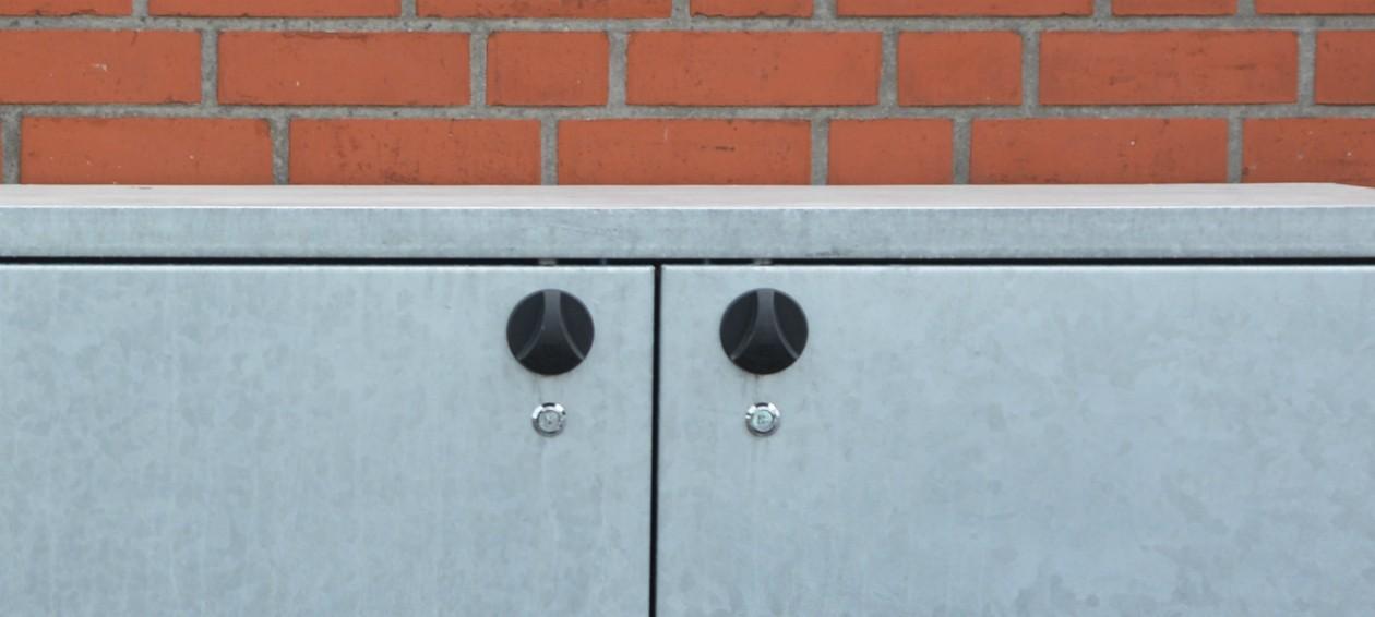 Verschlüsse von Mülltonnenboxen - RESORTI
