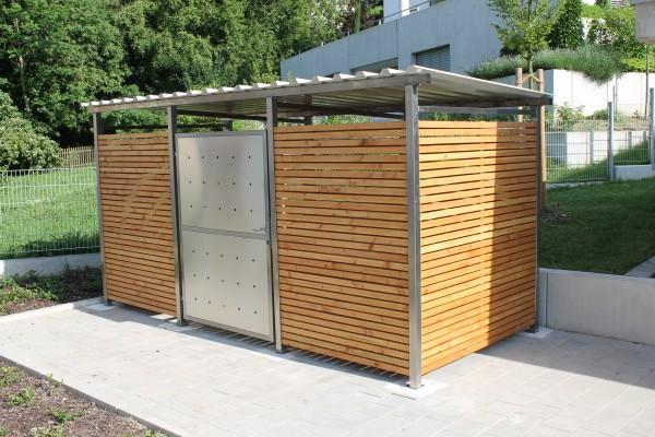 Mülltonnenhaus mit Holzverkleidung 4 x 2,50 Meter