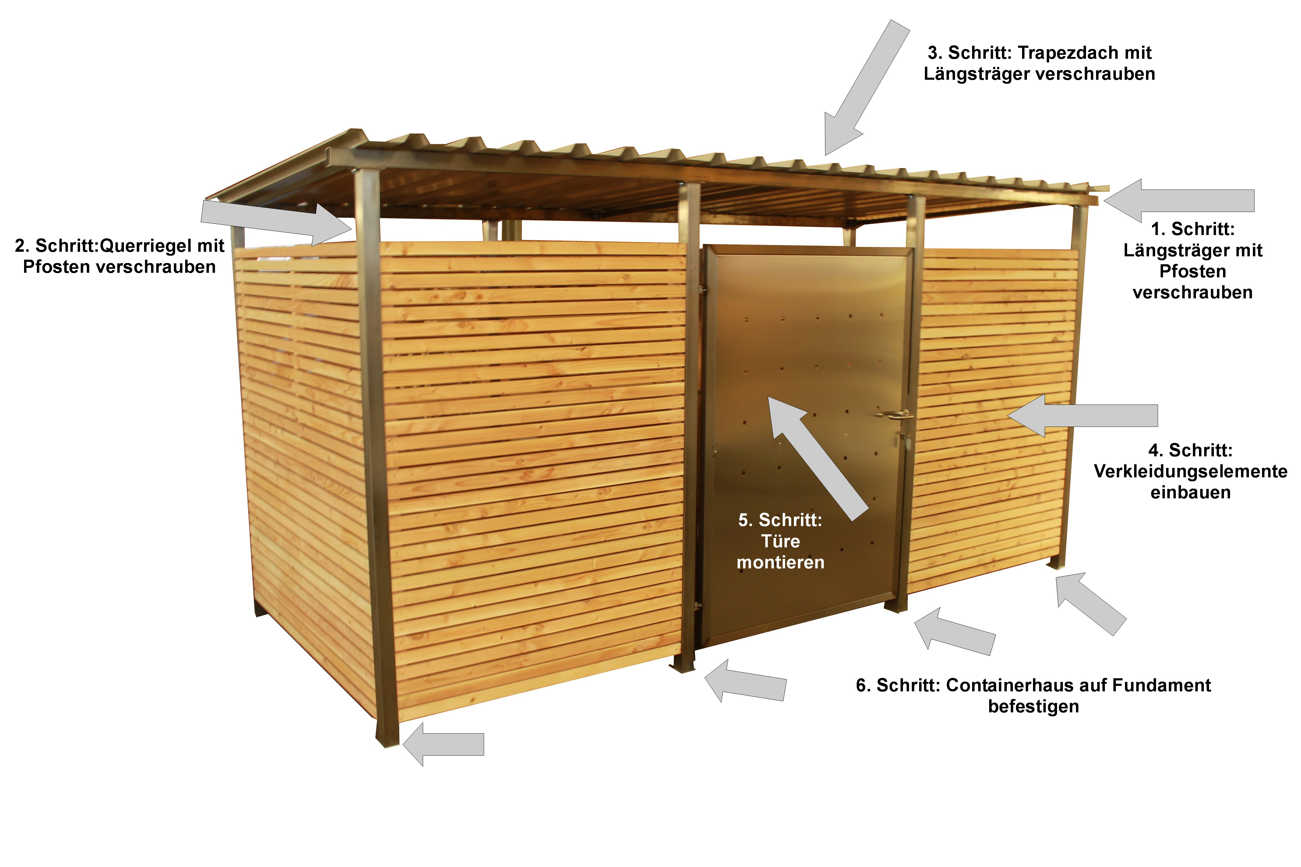 containerhaus 44 montage. Black Bedroom Furniture Sets. Home Design Ideas