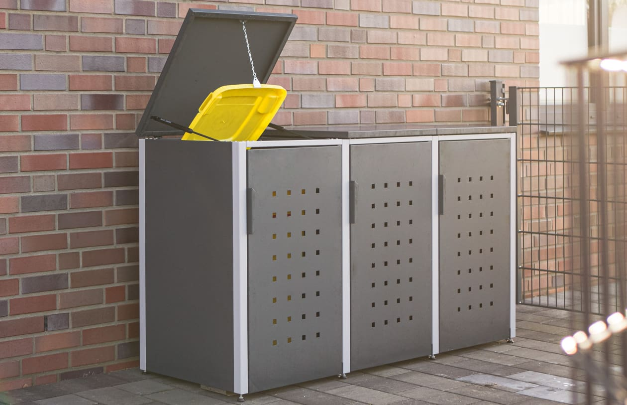 Mülltonnenbox im Rahmen des Lärmschutzes - RESORTI