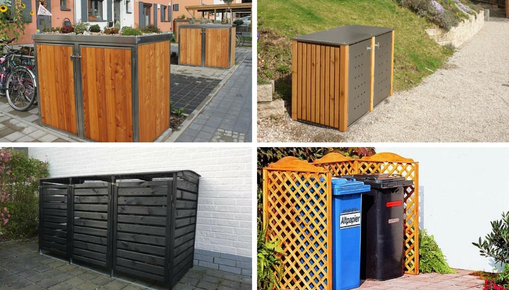 Holz Mülltonnenboxen günstig oder hochpreisig_
