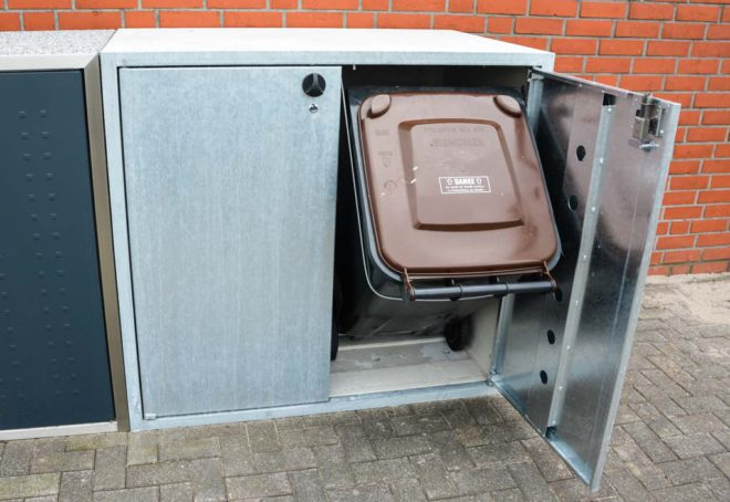 Kippvorrichtung am Beispiel einer Klassik-Mülltonnenbox - RESORTI Mülltonnenboxenratgeber (c) 2016 RESORTI