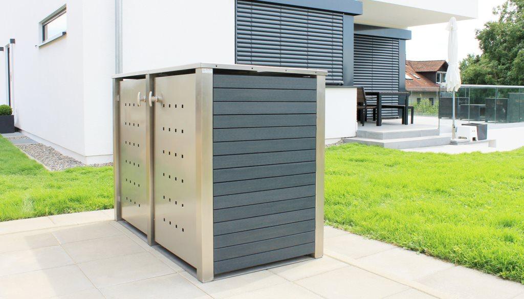 Mülltonnenboxen mit Kunststoffverkleidung