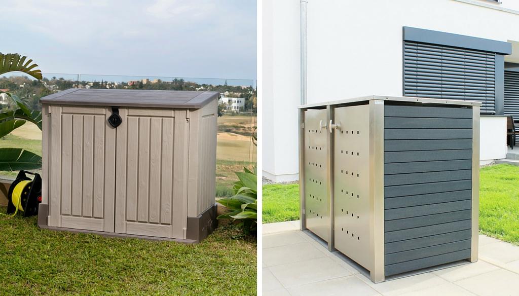 Mülltonnenboxen Kunststoff günstig vs. teuer